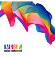 rainbow lines backgroun vector image vector image