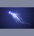 realistic lightning effect isolated on clear dark vector image vector image