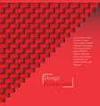 red geometric texture vector image