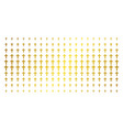 religious cross gold halftone pattern vector image vector image