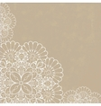 Retro background with lace ornament vector image vector image