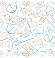 Seamless pattern with hearts and post vector image vector image