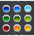 Set of colored round buttons vector image vector image