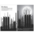 Set of Oil and gas refinery flyers vector image vector image