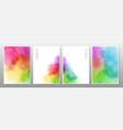 set rainbow watercolor background vector image vector image