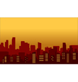 Silhouette of congested city vector image vector image