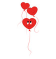 smiling red ballons on white background vector image