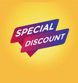 special discount tag sign vector image vector image