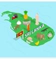 Sri Lanka map concept isometric 3d style vector image