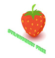 Strawberry allergen free icon isometric style vector image