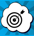 target with dart black icon in bubble on vector image