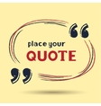 template for quotes vector image vector image