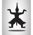 thai giant silhouettes on white background vector image