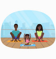 the black african family vector image vector image