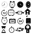 Time alarm clock icons set vector image vector image