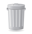 trash can 01 vector image vector image