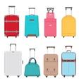 travel bags set color suitcase bag vector image