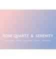 Trendy color of the 2016 year Rose quartz and vector image