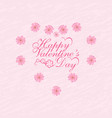 valentine s day postcard in honor of vector image vector image