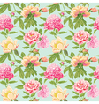 Vintage Peony Flowers Background vector image vector image