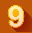 volume icons number nine vector image vector image