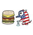 american burger dog vector image