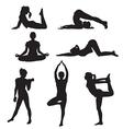 girl yoga vector image