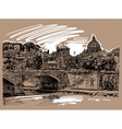 sketch drawing of Rome Italy cityscape type of vector image