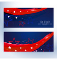 4th july banners collection vector image vector image