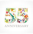 55 anniversary folk logo