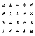Aircraft and Ships Icons 3 vector image