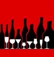 alcohol background vector image vector image