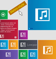 Audio MP3 file icon sign Metro style buttons vector image