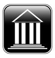 Bank symbol button vector image