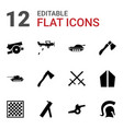 battle icons vector image vector image