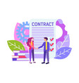 business partners agreement vector image vector image