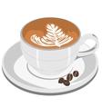 Cappuccino Coffee cup vector image vector image