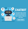 chatbot help concept banner flat style vector image