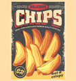 chips vintage poster image vector image vector image