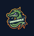 crocodile esport gaming mascot logo template vector image vector image