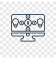 crowdfunding concept linear icon isolated on vector image