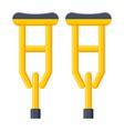 crutches icon vector image