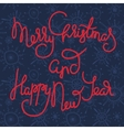Cute xmas greeting card with red lettering vector image vector image