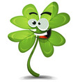 four leaf clover character vector image vector image