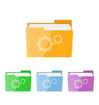 gray setting icon vector image vector image