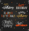 happy birthday phrases vector image vector image