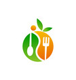 health life balance nutrition vector image vector image