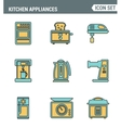 Icons line set premium quality of kitchen utensils vector image vector image