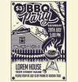 invitation card bbq party on backyard vector image