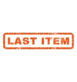 Last Item Rubber Stamp vector image vector image